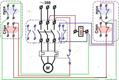 Схема подключения магнит пускателя